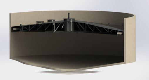ClearStream Buoyant Floating Truss Duo Gas Holder