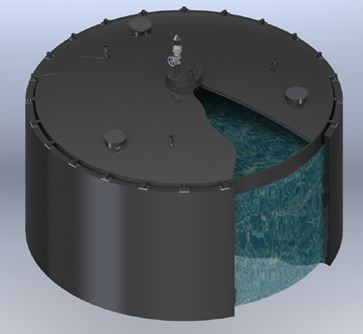 ClearStream Fixed Digester Cover Radial Beam