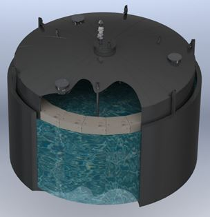 ClearStream Gasholder Digester Cover Radial Beam or truss